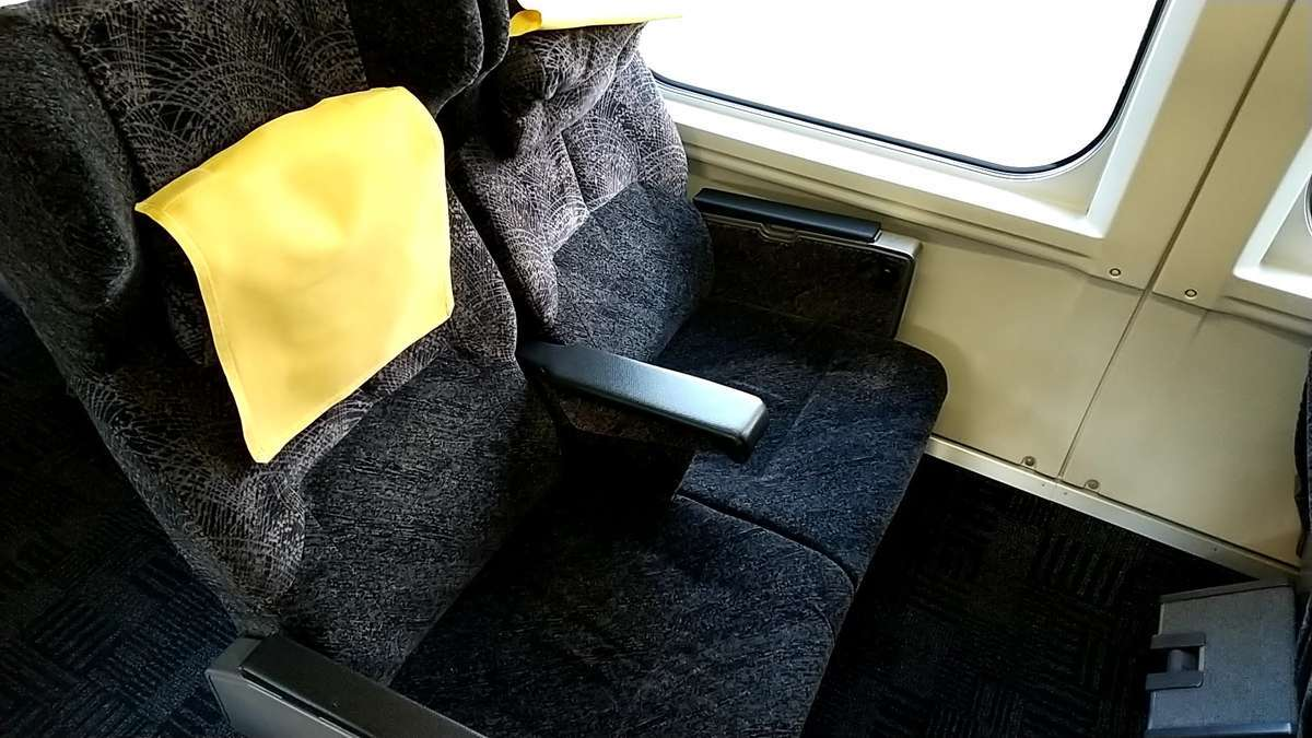 「とれいゆつばさ」のリクライニングシート(11号車)