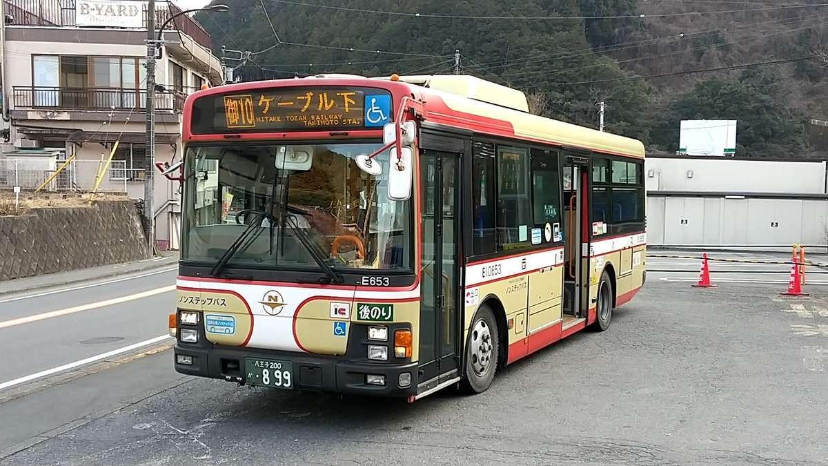 御嶽駅前からケーブル下への路線バスは貸し切り状態!