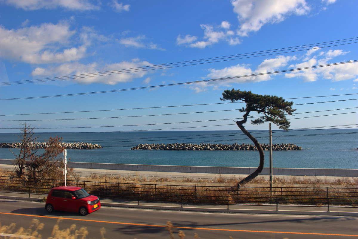 常磐線の一部区間からは太平洋を眺めることができます(A席がおすすめ)