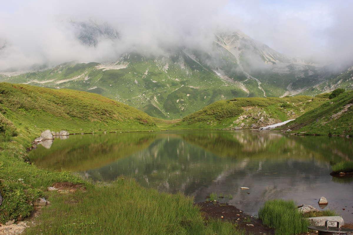 ミクリガ池の東側にある「ミドリガ池」