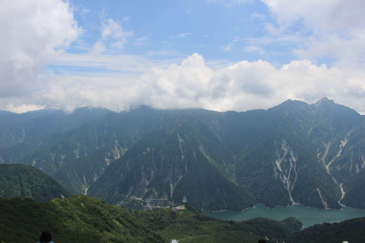 大観峰からの後立山連峰の絶景