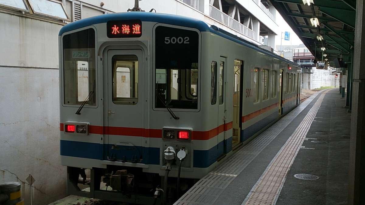 関東鉄道「常総線」の気動車(取手駅)