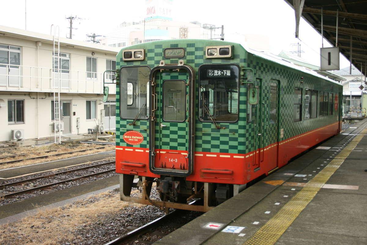 真岡鉄道の気動車(下館駅)
