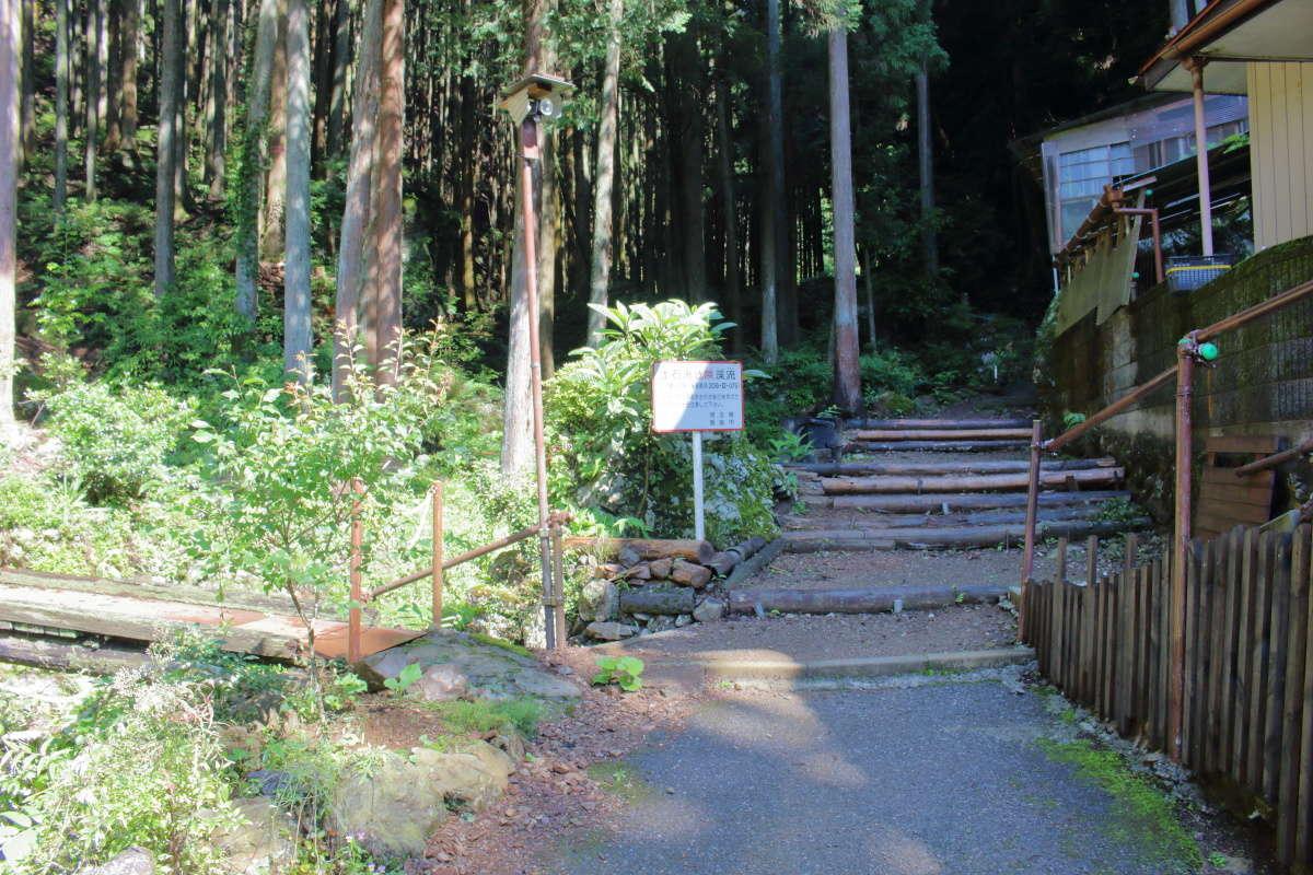 正丸峠への登山口