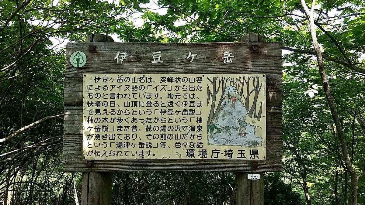 「伊豆ヶ岳」山名の由来は諸説様々