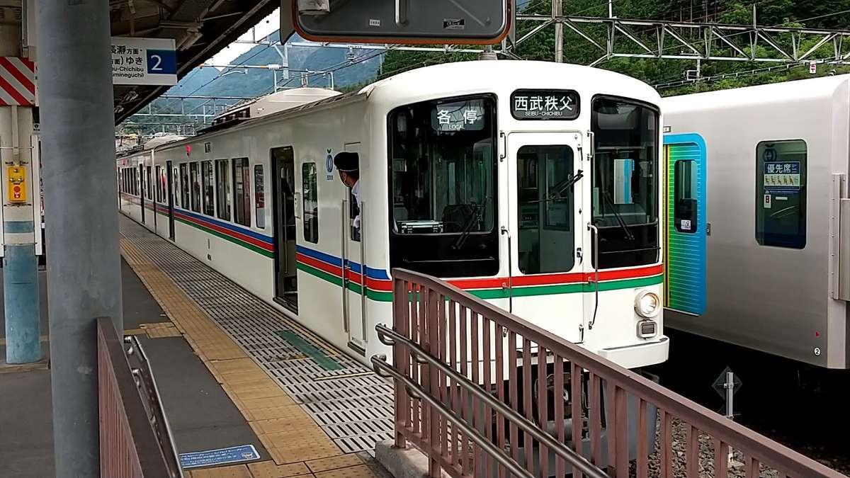 西武秩父線の電車で横瀬駅へ