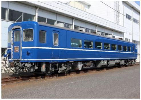 JR北海道から譲受された「スハフ14 501」は急行「はまなす」として利用されていた客車