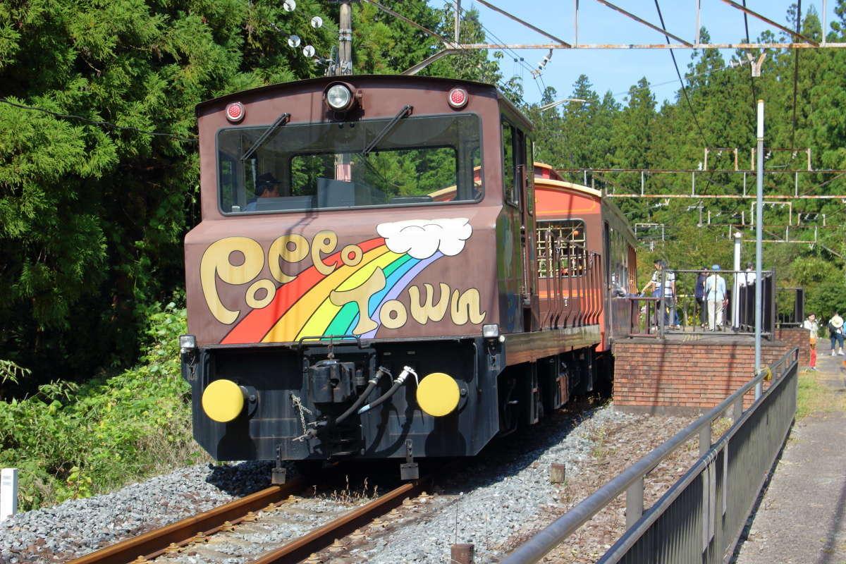 旧信越本線の線路を走る「トロッコ列車ライン」