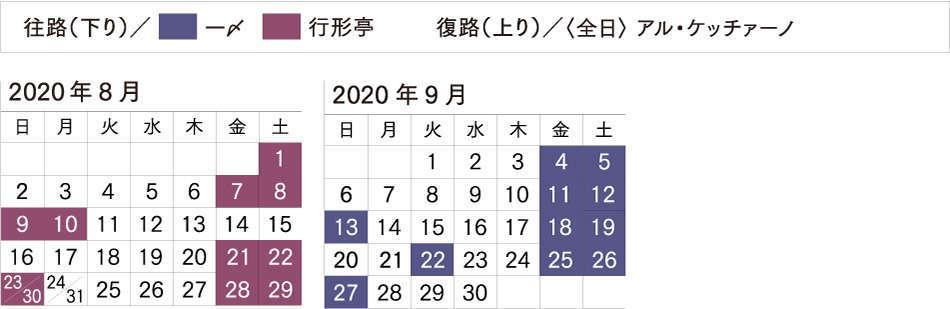 びゅう旅行商品 設定日カレンダー