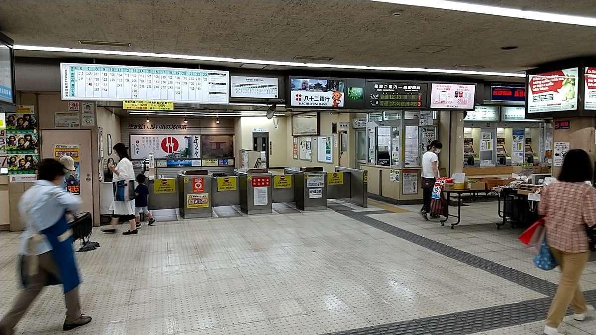 長野電鉄の長野駅は地下駅