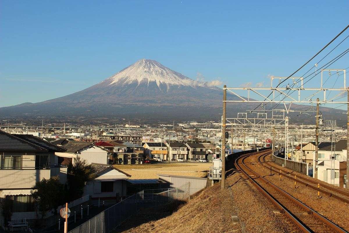 竪堀駅からの富士山の眺めはピカイチ!