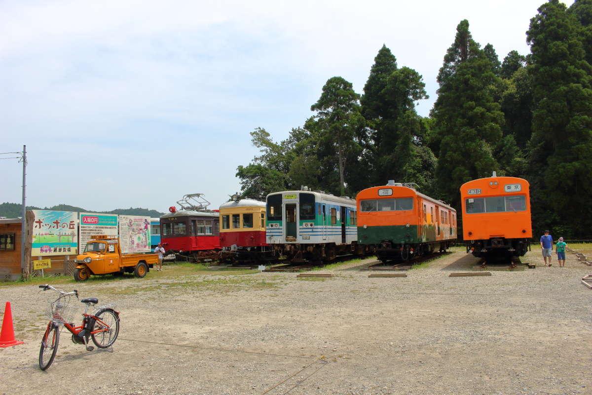 「ぽっぽの丘」は古い鉄道車両の保存展示場