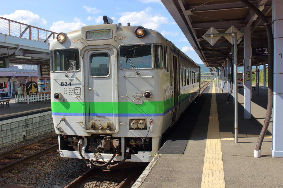 東鹿越行きの普通列車はキハ40系の単行!