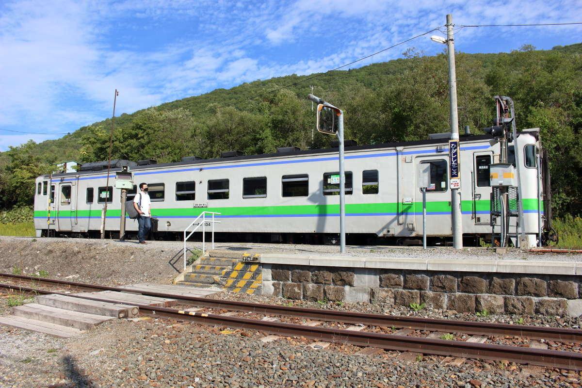先ほどまで乗ってきた列車は滝川行きとなり折り返していきました