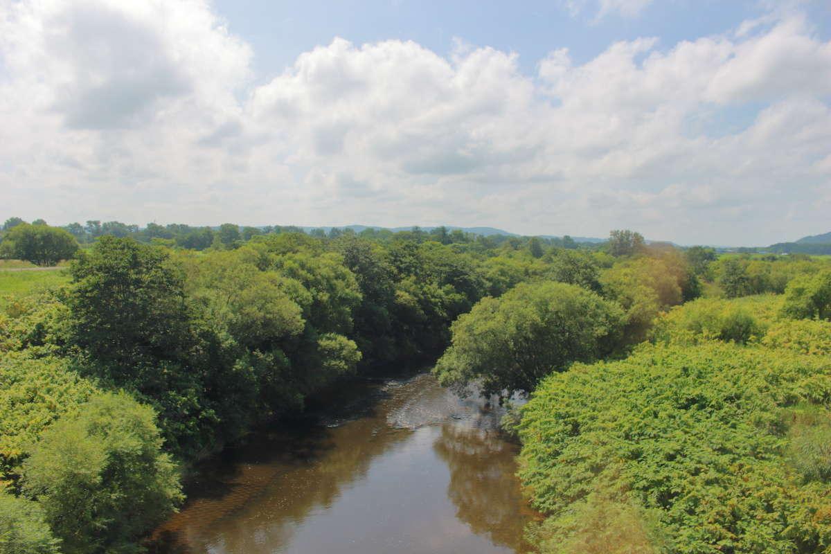 幌延より南側では宗谷本線の車窓から天塩川を眺められます