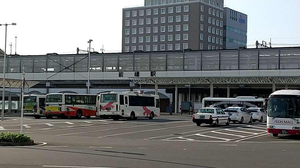平日午前7時過ぎの前橋駅