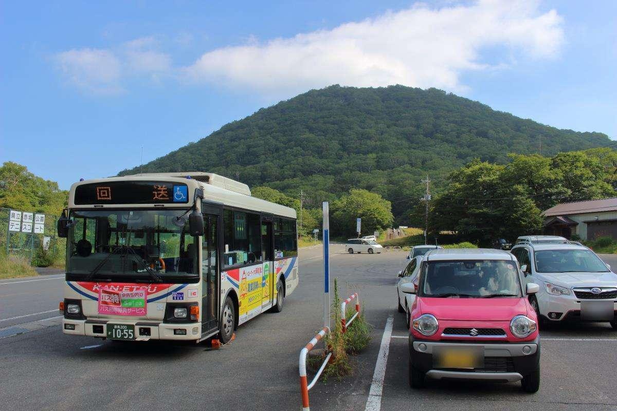 富士見温泉行きのバスに乗車