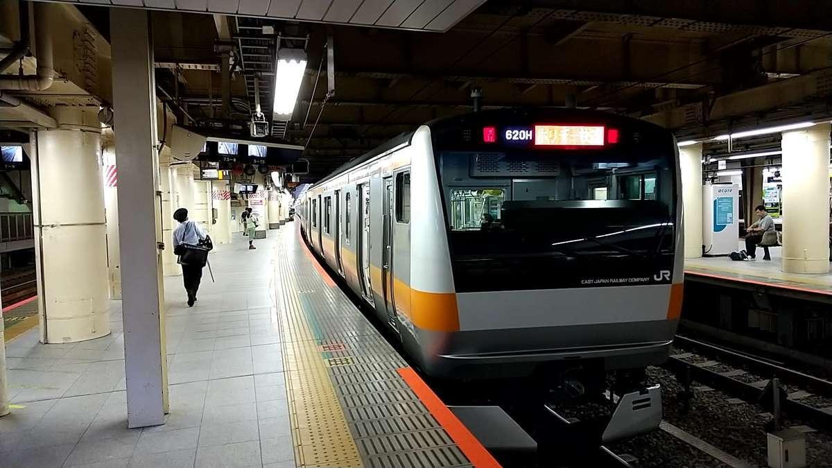 新宿駅から「ホリデー快速おくたま1号」に乗車、都民ハイカーにはおなじみの列車です