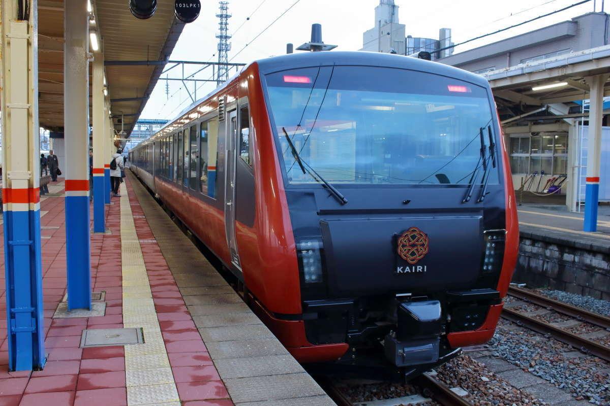 観光列車「海里」が弥彦線へ!
