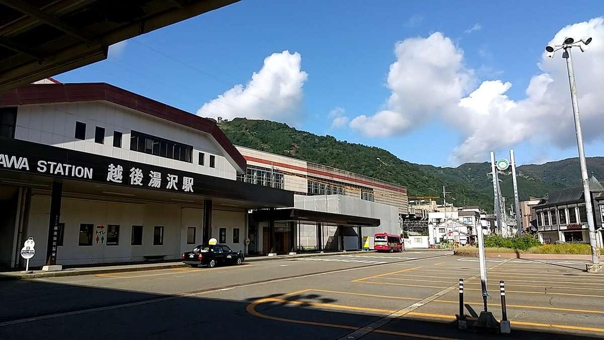 越後湯沢駅東口のバスターミナル