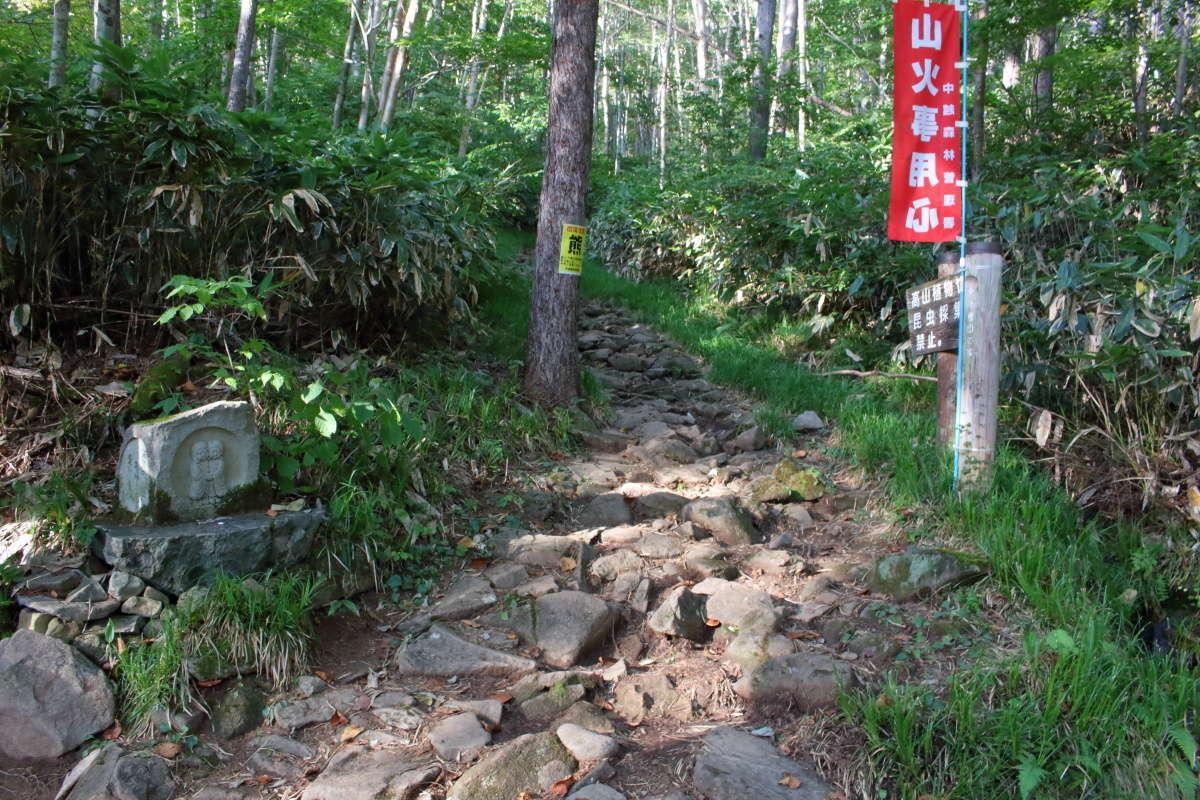 「平元新道」の登山道入口