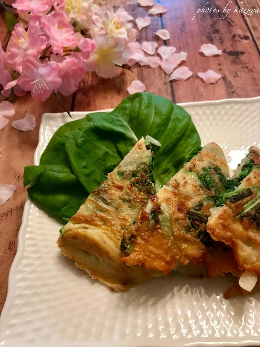 菜の花のチーズチジミ