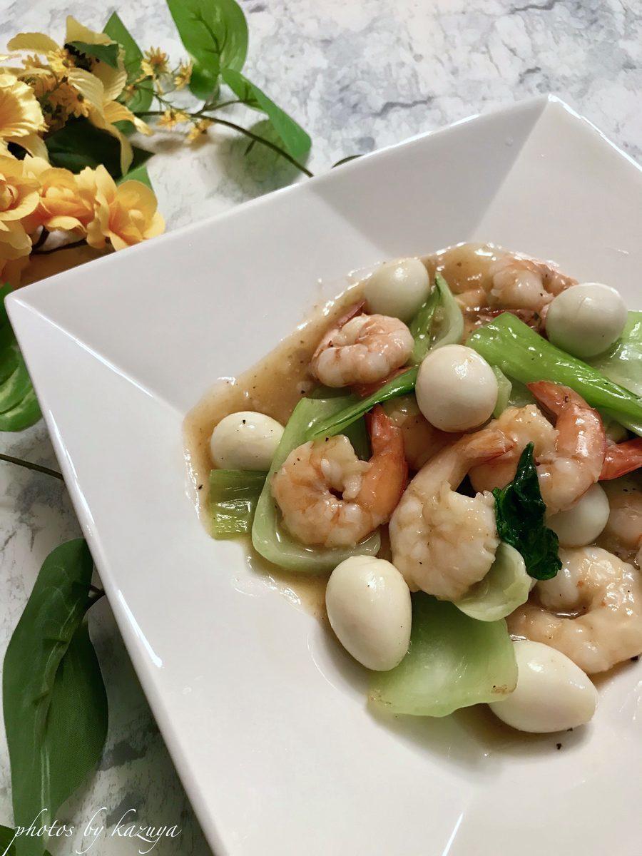 エビとチンゲン菜の中華うま煮