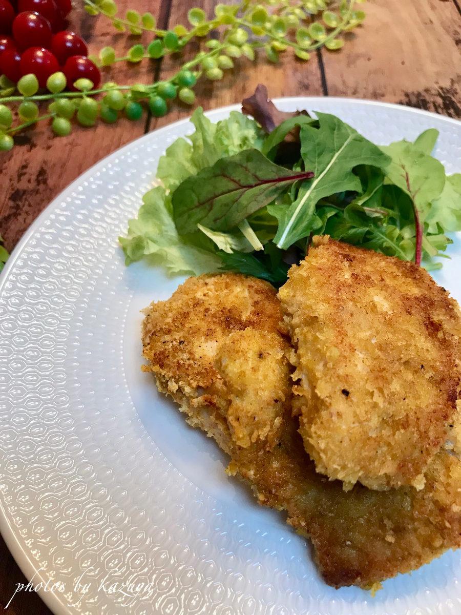 鶏むね肉のカレーパン粉焼き