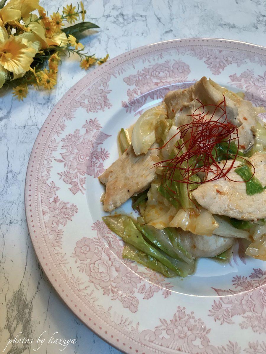 麻辣醤と春キャベツの回鍋肉