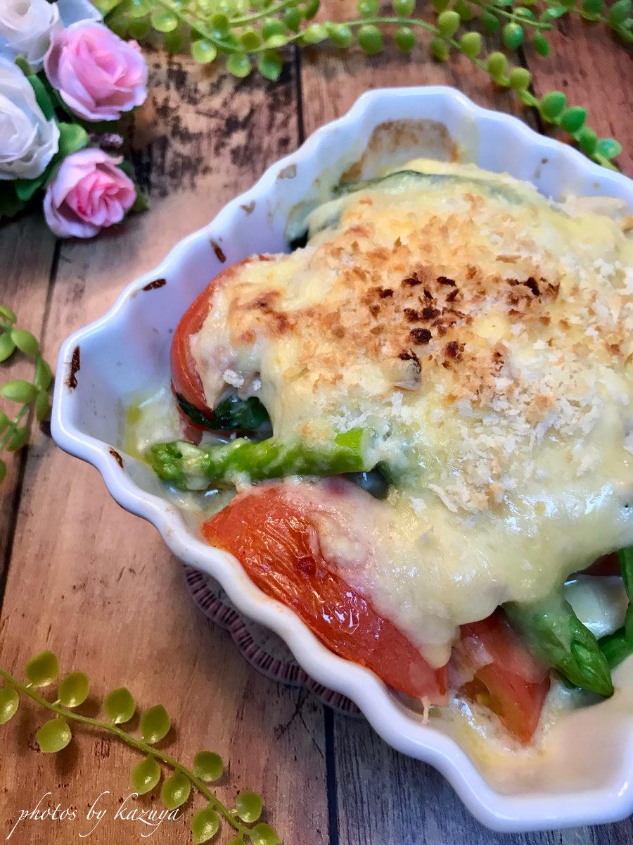 焼き野菜のツナソースグラタン