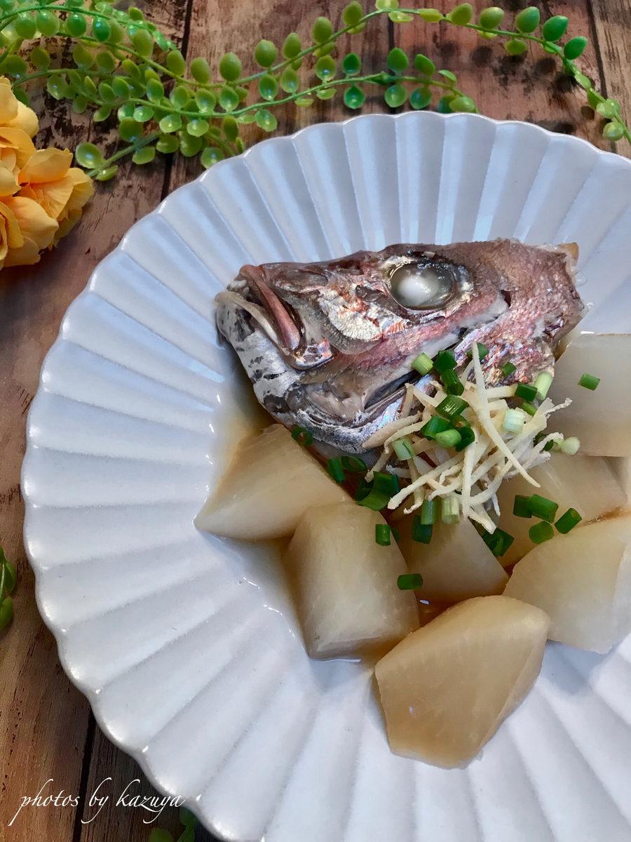 鯛のアラと大根の煮物