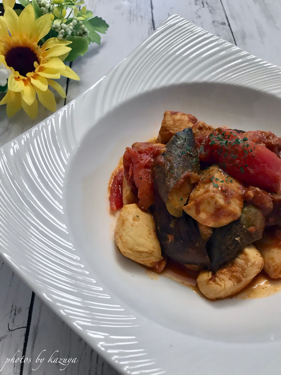 鶏むね肉とナスのトマトカレー