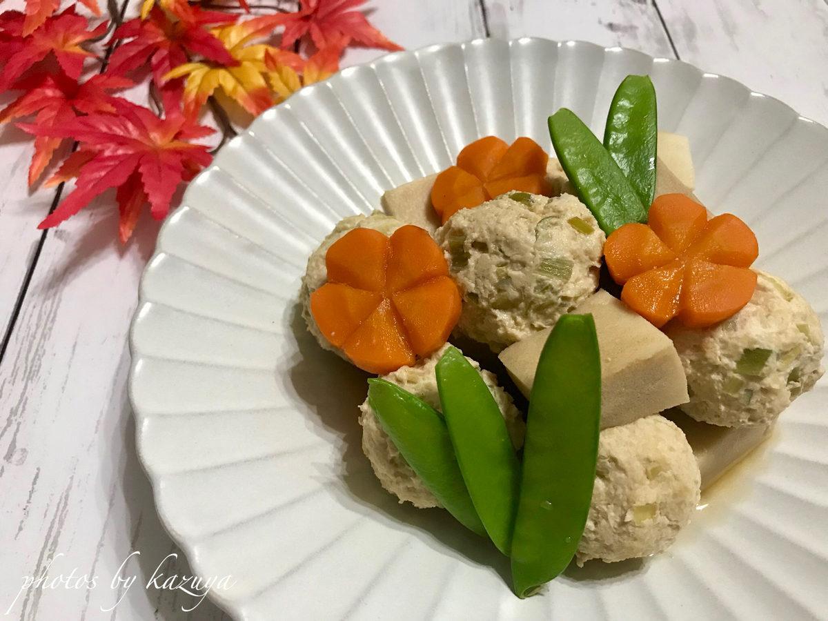 鶏団子と高野豆腐の煮物