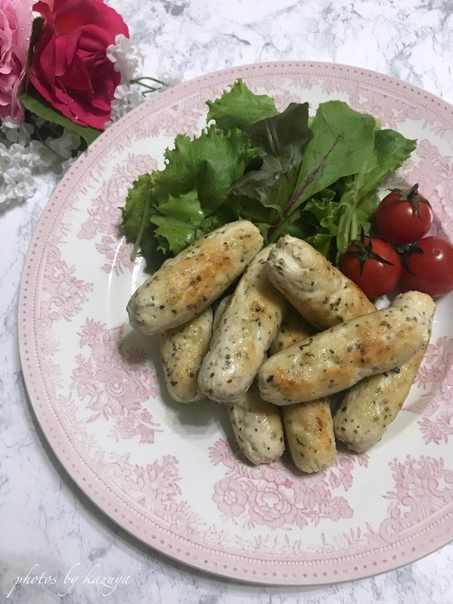 鶏むね肉で手作り無添加ソーセージ