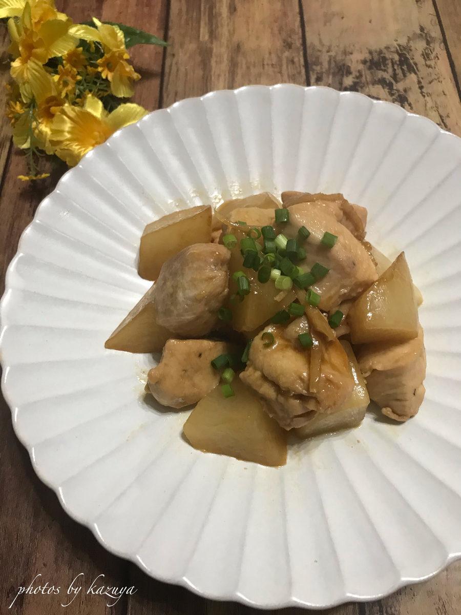 鶏むね肉と大根の照り煮