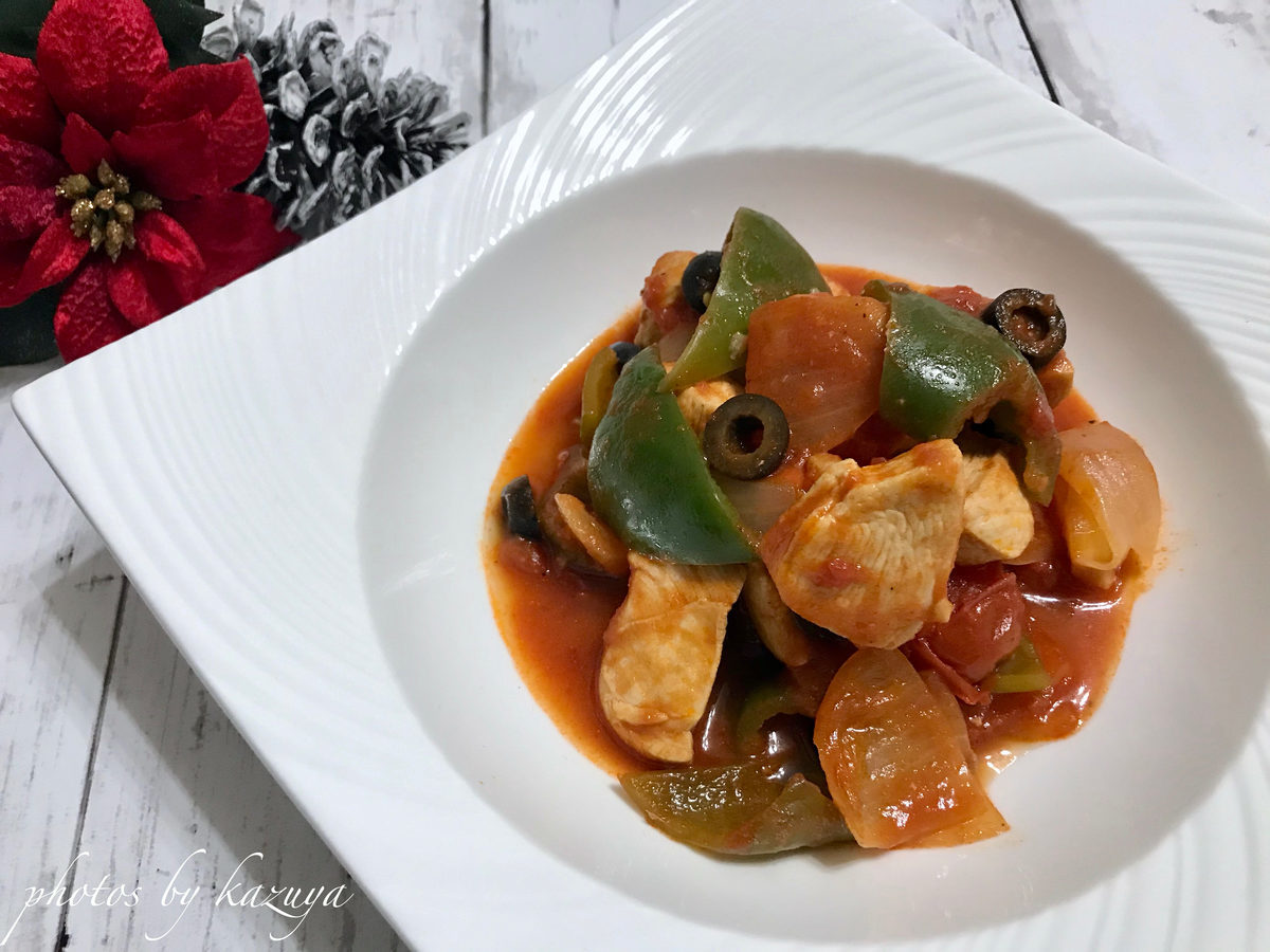 アンチョビde鶏むね肉のトマト煮