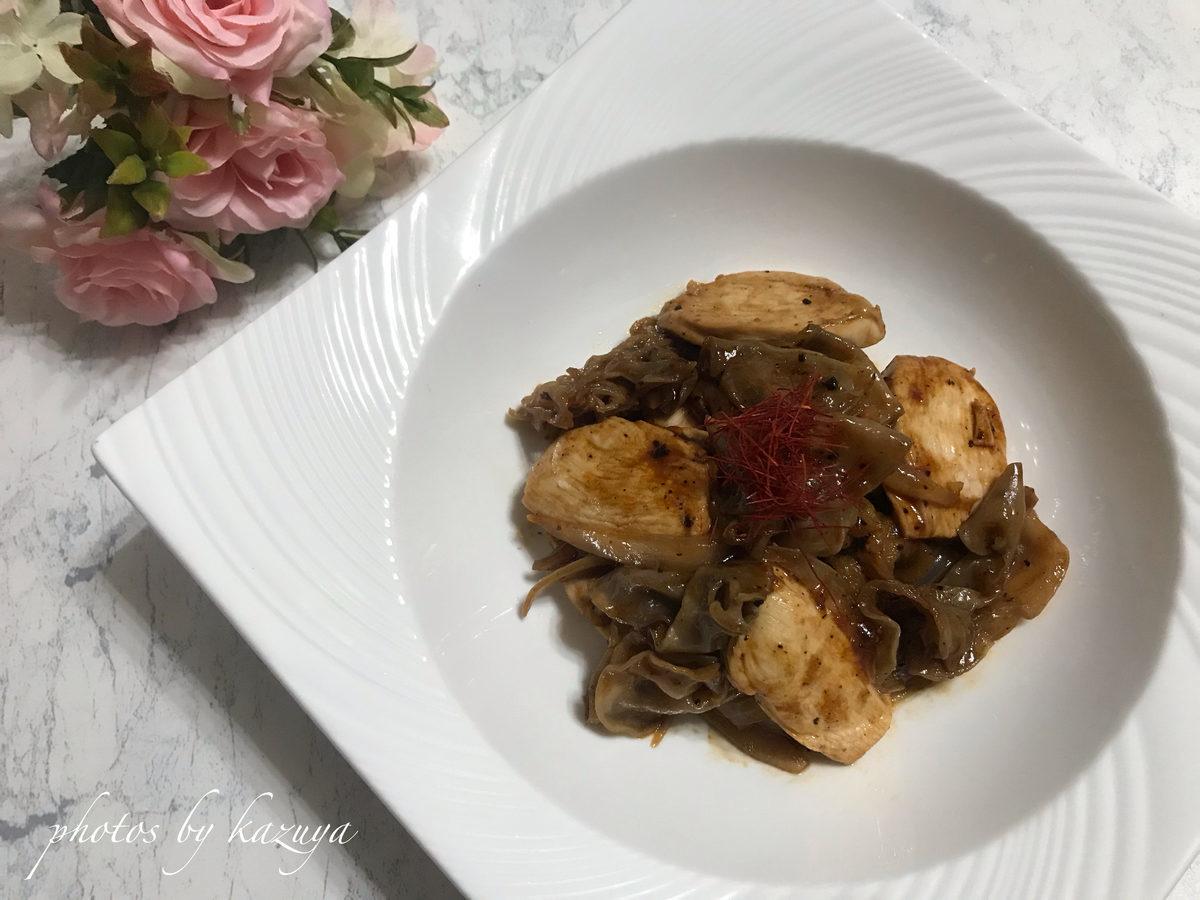 鶏むね肉と白キクラゲの中華炒め