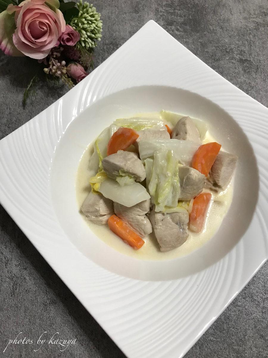 鶏むね肉と白菜のクリーム煮