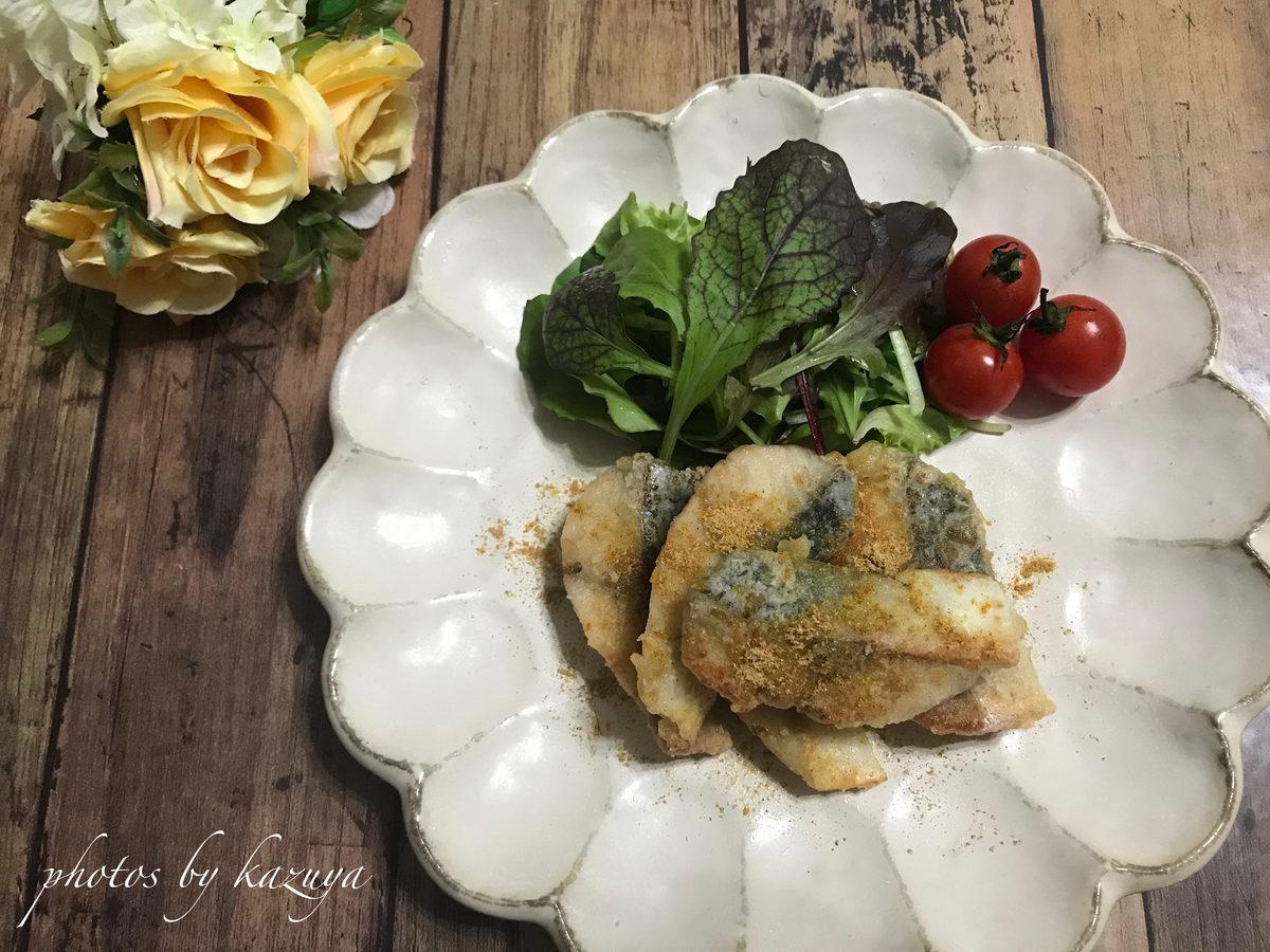 カレー塩deサバの竜田揚げ
