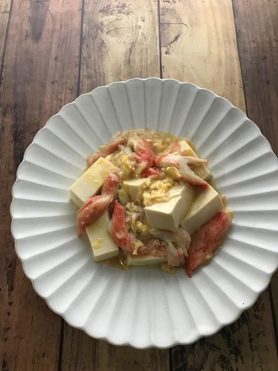 あんかけ豆腐のカニかま卵