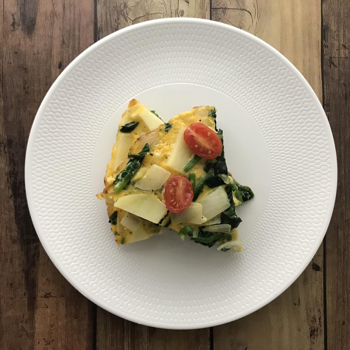野菜たっぷりスペイン風オムレツ