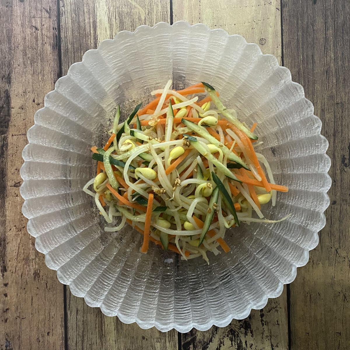 豆もやしの四川風ナムル