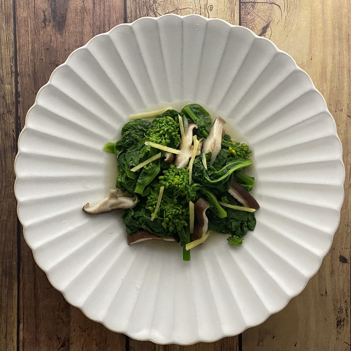 菜の花と椎茸の煮浸し