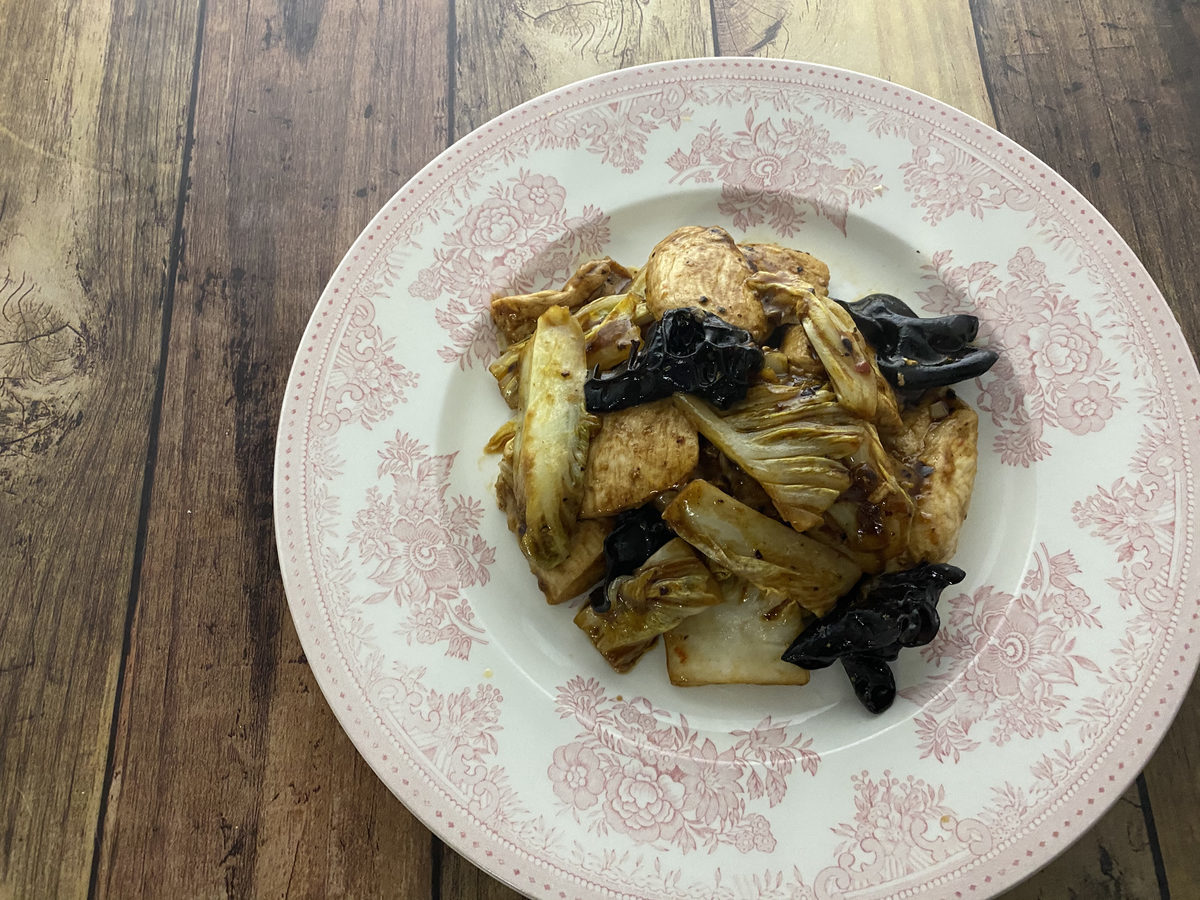 鶏むね肉と白菜の中華炒め