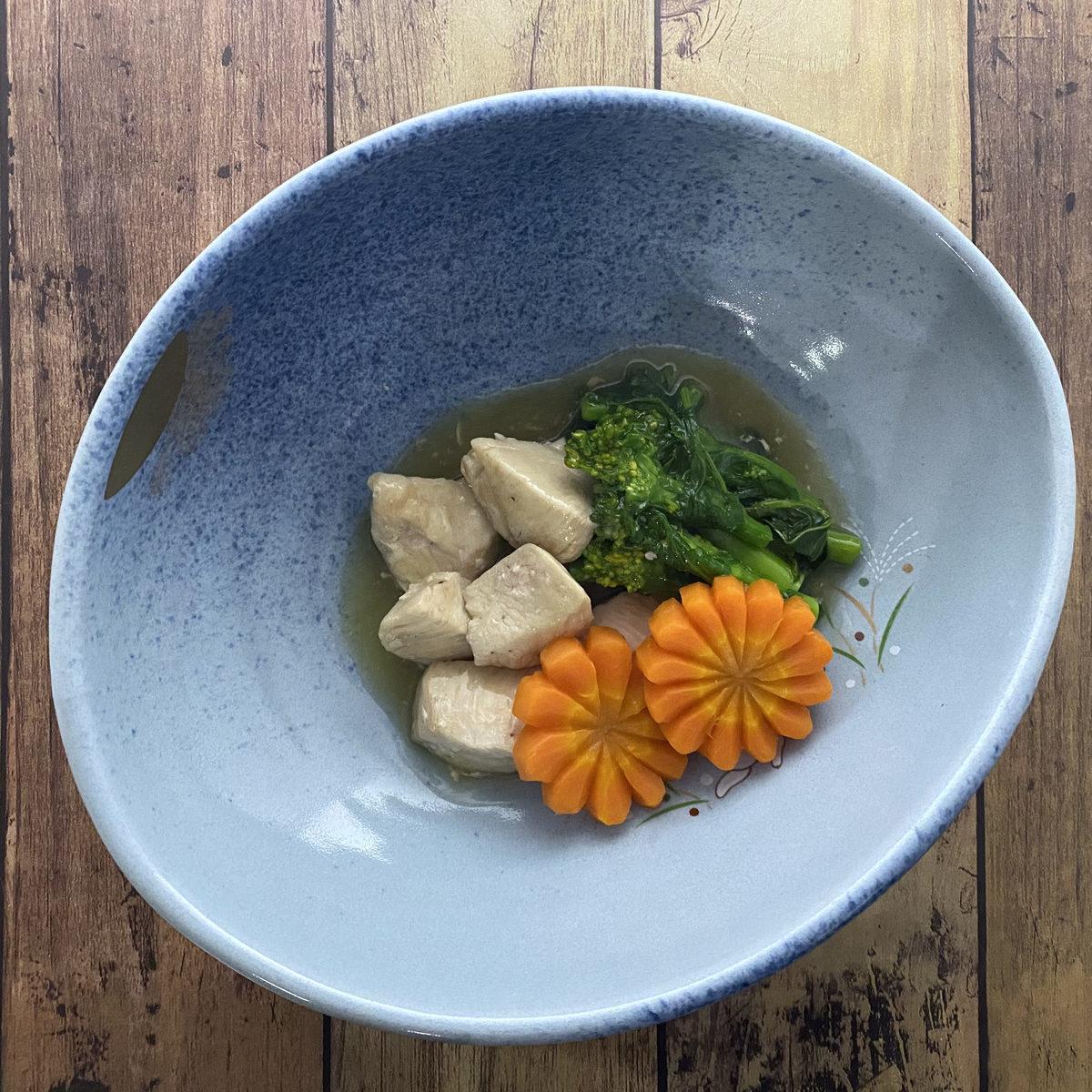 鶏むね肉と菜の花のわさびあん