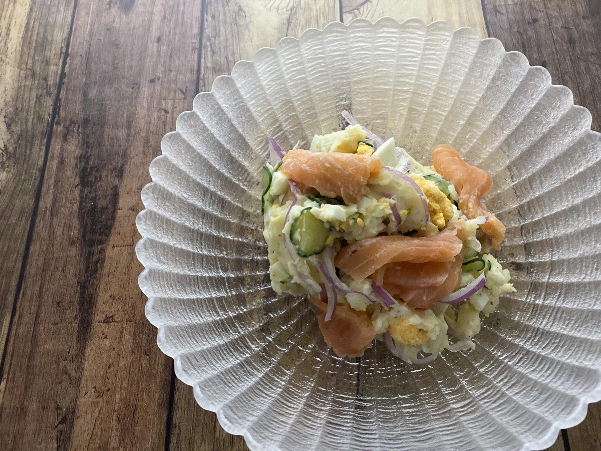 スモークサーモンのポテトサラダ