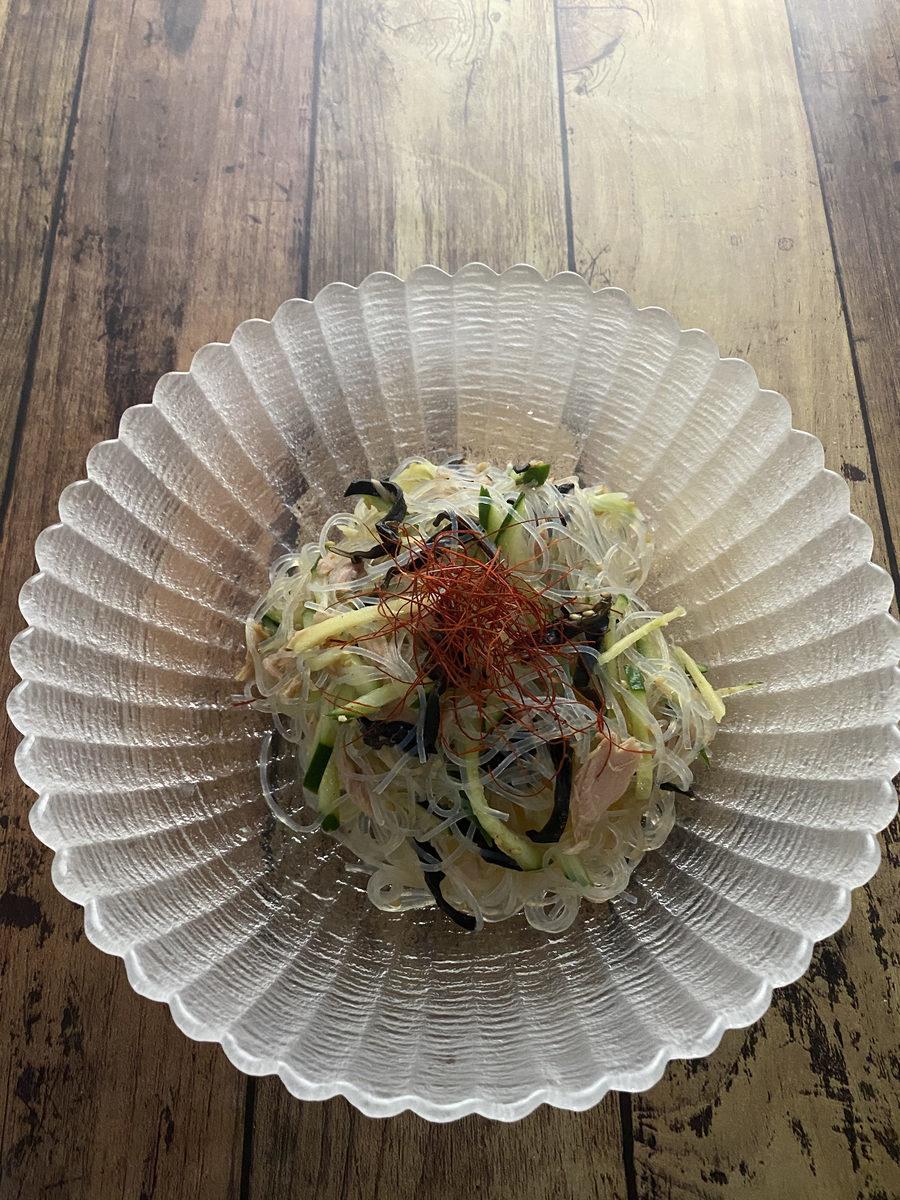 四川風春雨サラダ