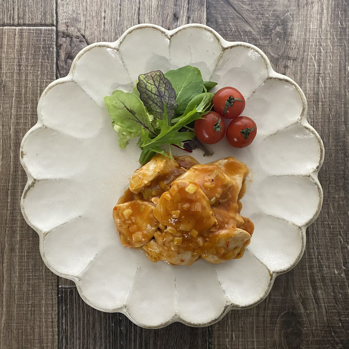 鶏むね肉で鶏チリ