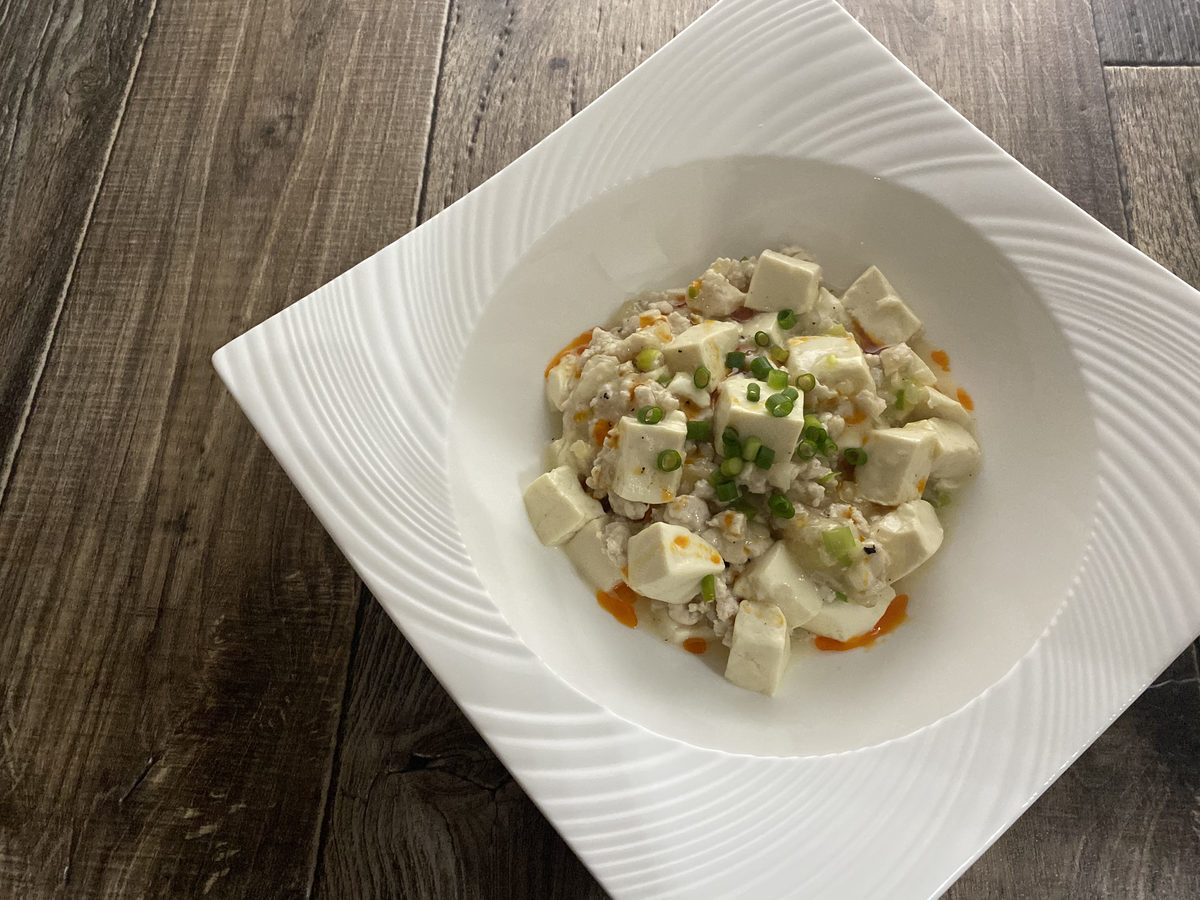 鶏むね肉de塩麻婆豆腐