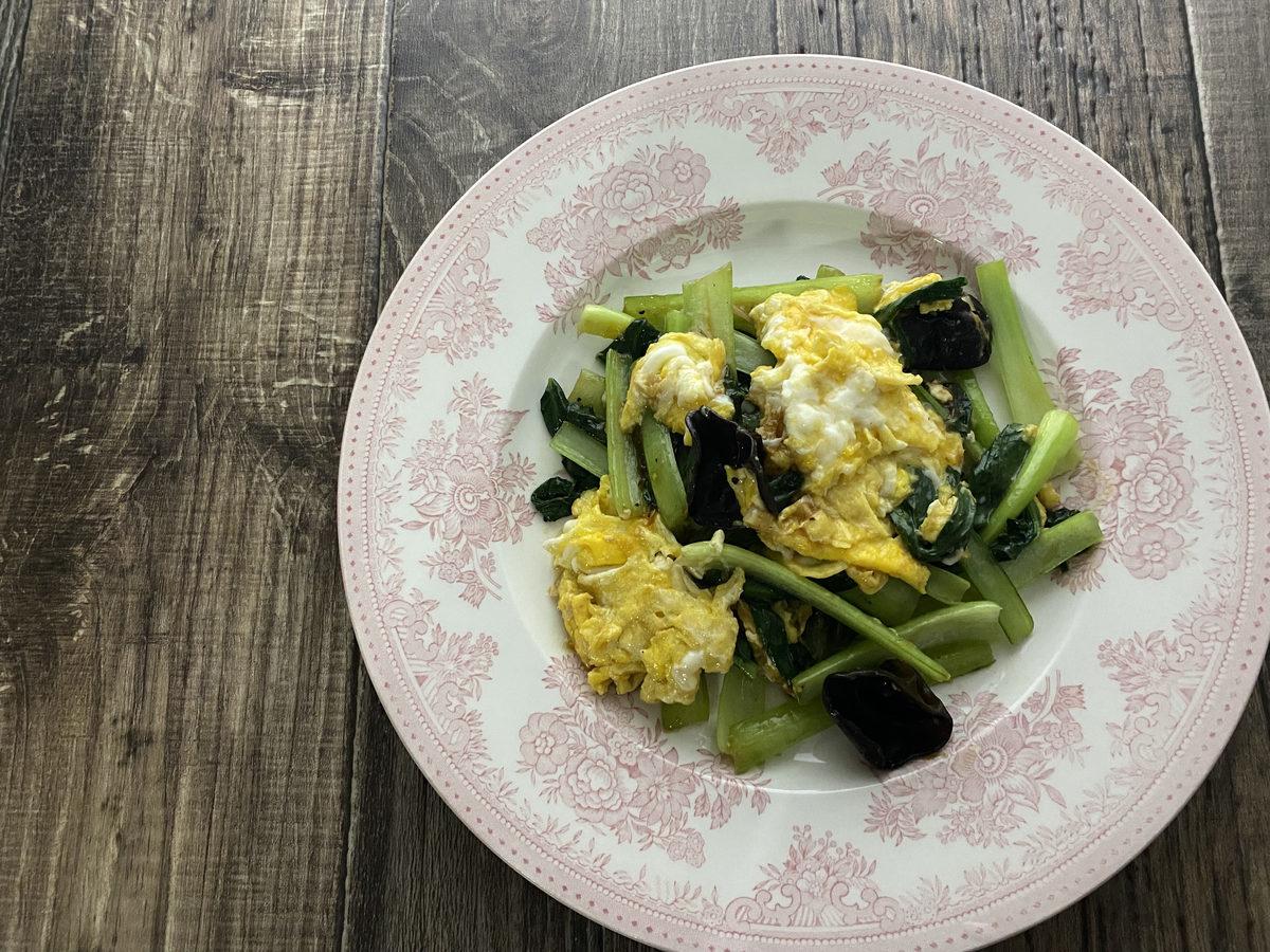 小松菜と卵のオイスター炒め